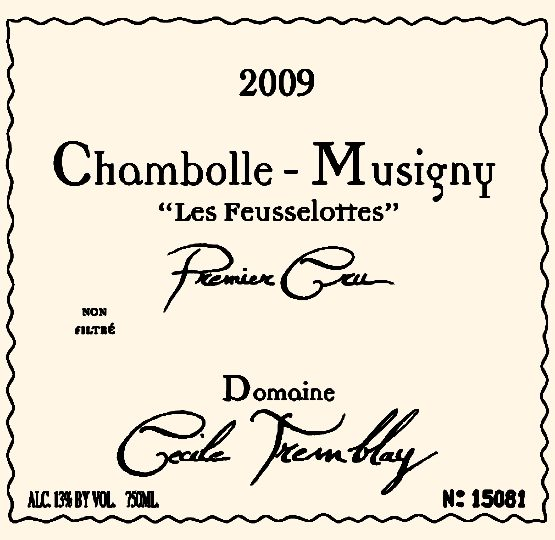 2008 Chambolle Musigny 1er Cru Les Feusselottes