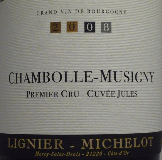 2009 Chambolle Musigny 1er Cru Cuvee Jules