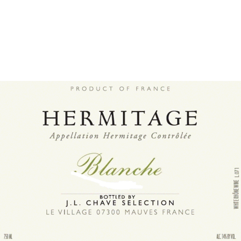 L Chave Selection Hermitage Blanches Label