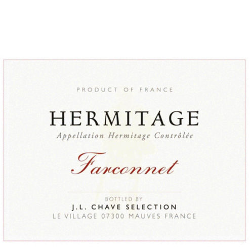 JL Chave Selection Hermitage Farconnet Label