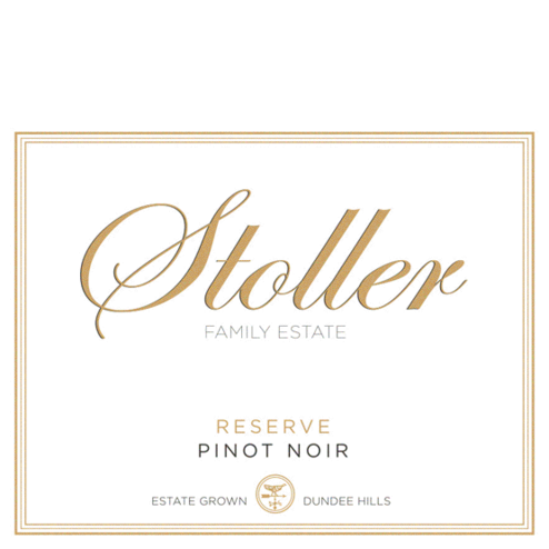 Stoller Vineyards Pinot Noir Reserve Label