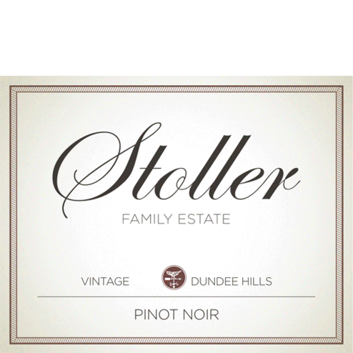 Stoller Vineyards Dundee Hills Pinot Noir Label
