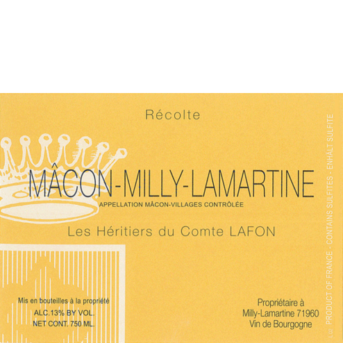 Macon Milly Lamartine Label