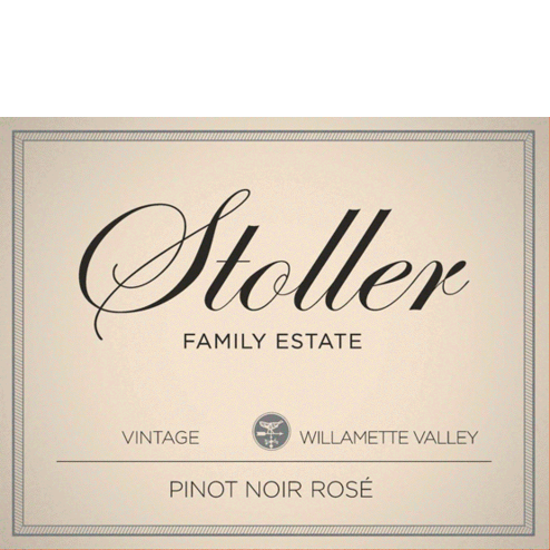 Stoller Vineyards Pinot Noir Rose Label