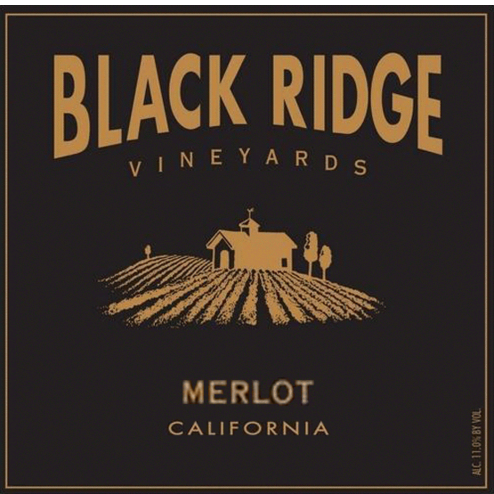 Black Ridge California Merlot Label