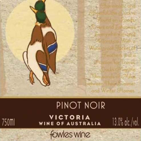 Fowles Wines Are You Game Pinot Noir Label