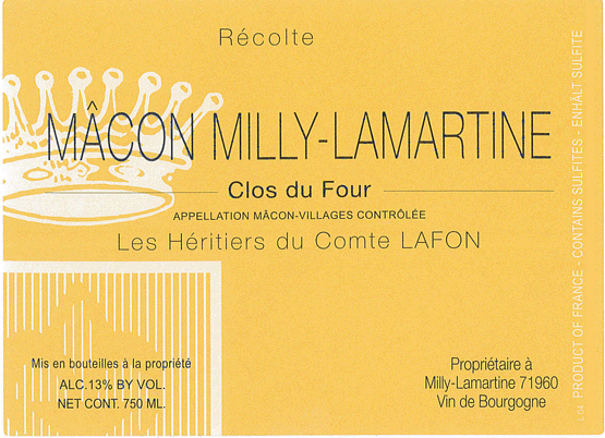 Heritiers Lafon Macon Milly Lamartine Clos du Four