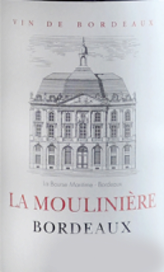 Chateau La Mouliniere Bordeaux Rouge Label